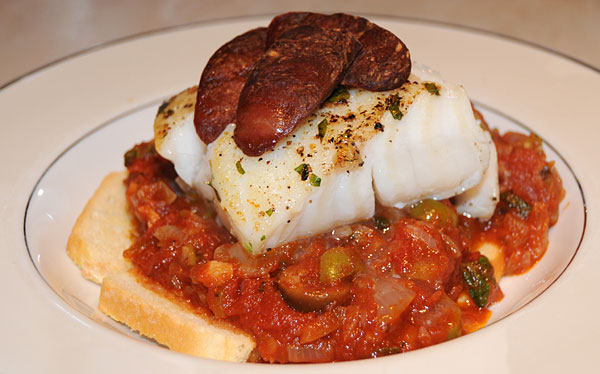 Cod-with-chorizo-on-spicy-s