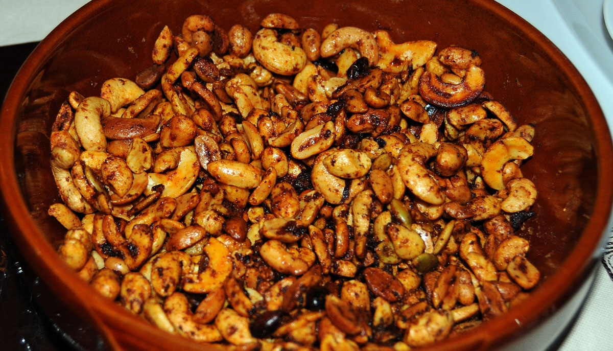 Mexican roulette spicy mexican peanuts with piquin chiles recipe i adapted this spicy mexican peanut bar snack to contain whole dried piquin chiles that can deliver a russian roulette style spicy surprise the recipe uses forumfinder Image collections