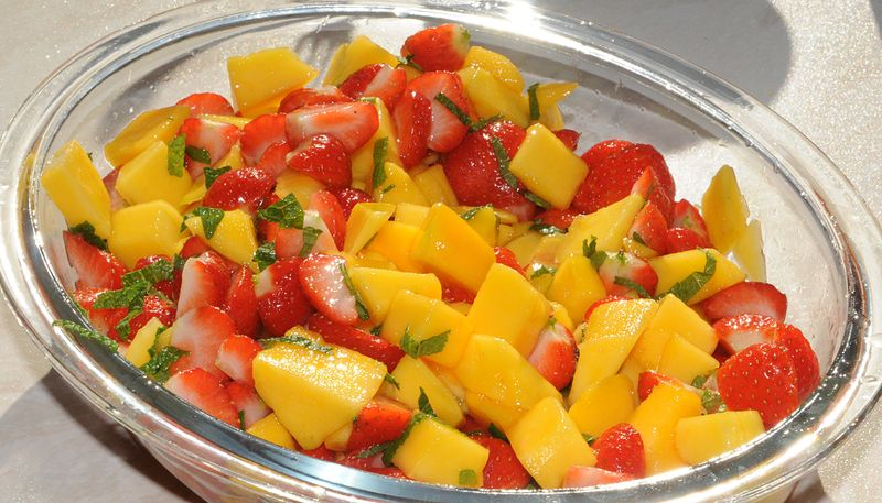 Strawberry-mango-salad